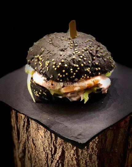 Burger black shrimp