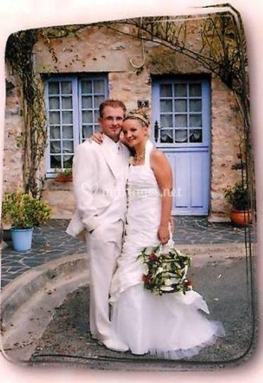 Bouquet boule de la mariée