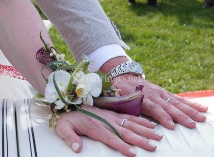 Bracelet de fleurs fraiches