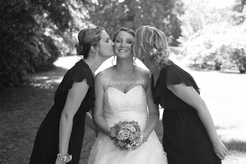 Les témoins et la mariée