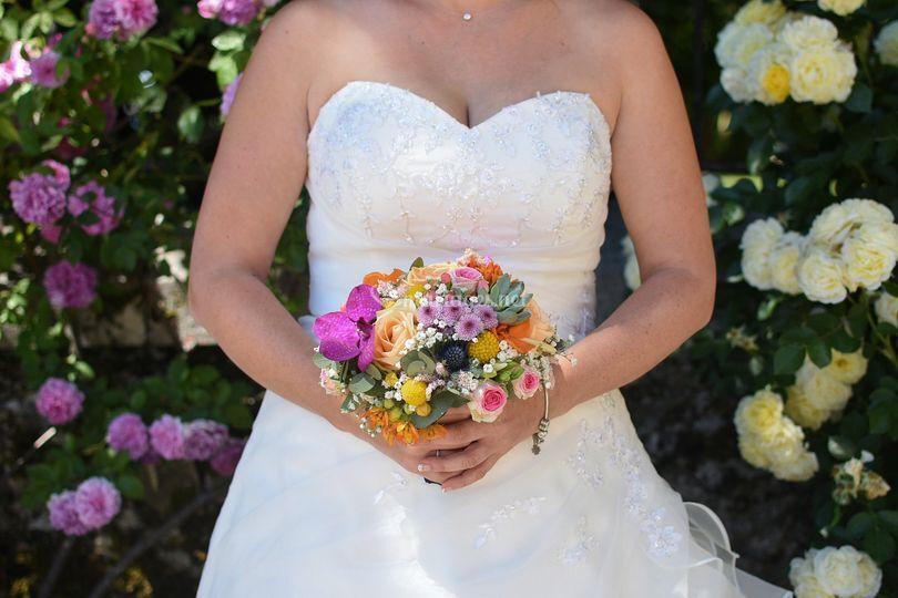Bouquet et robe
