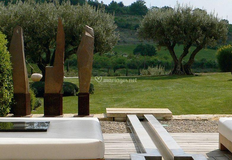 jardin sur domaine des andols - Domaine Des Andeols Mariage