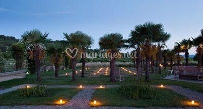 palmeraie vue de nuit sur domaine des andols - Domaine Des Andeols Mariage