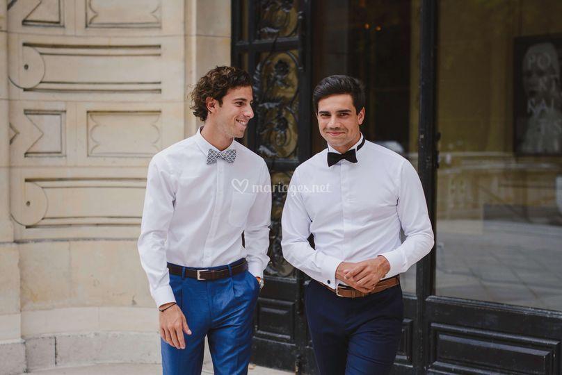 Chemises sur mesure - mariage
