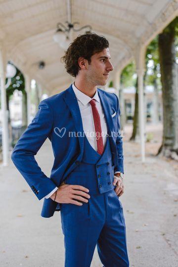 Costume prêt à porter bleu