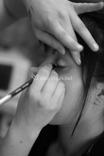 Maquillage, préparatifs