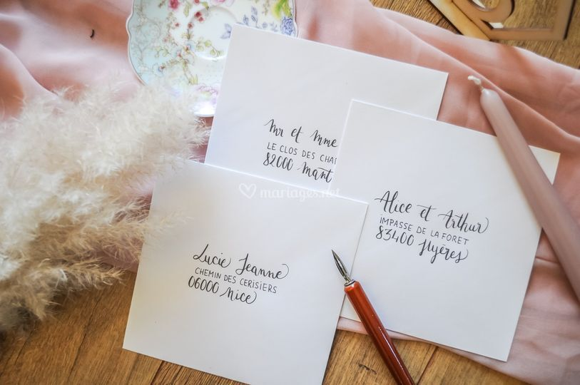 Adresses enveloppes