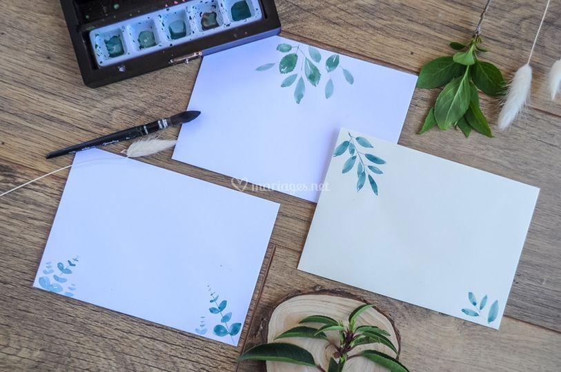 Peinture sur enveloppes