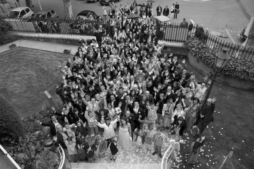 Photo de groupe à la mairie