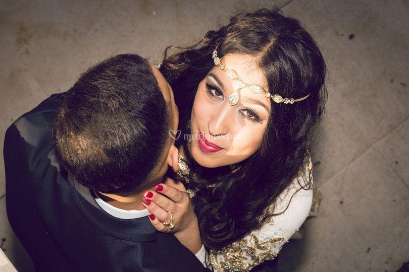 La jeune mariée rayonnante.