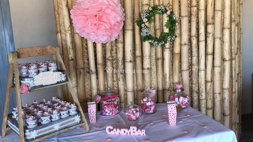Candy bar pour un baptême