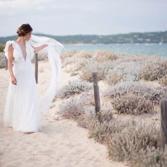Mariage en bord de plage