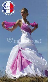 Robe de mariée fushia