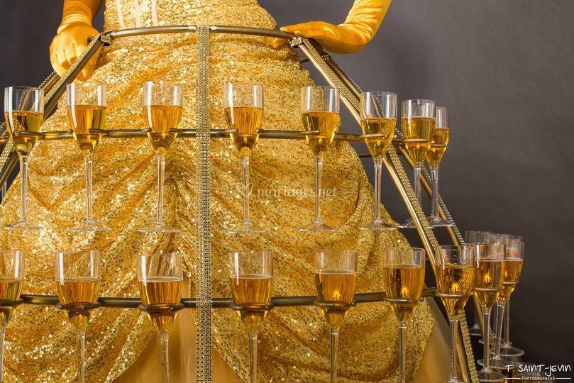 Robe à champagne