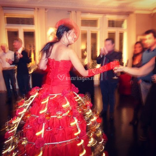 Mariage animation champagne