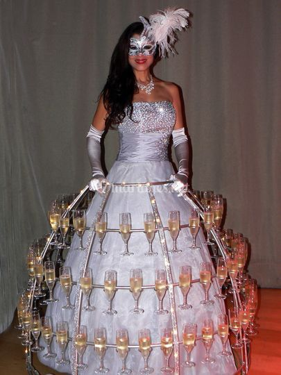Service champagne mariage
