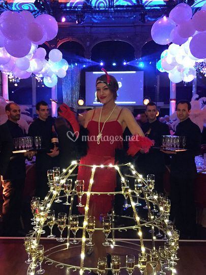 Robe champagne gatsby