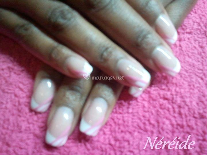 Gel franch blanche déco rose