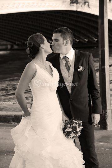 Photo de mariage  sépia