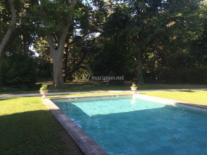 Vue du parc de la piscine