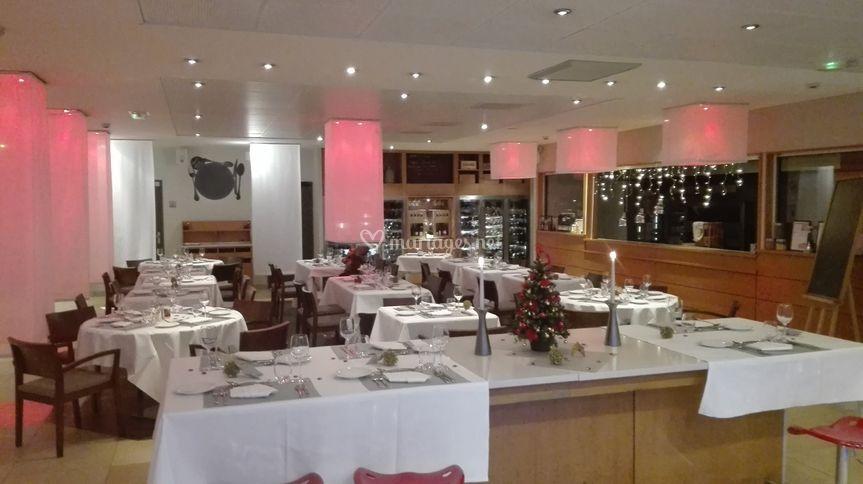 Salle de restaurant, réception