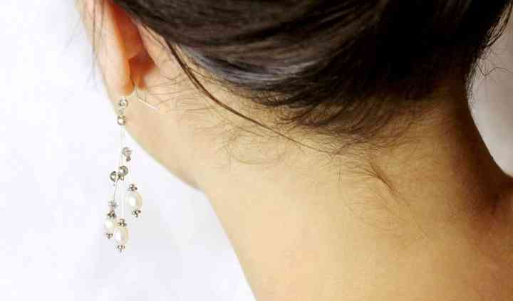 Boucles d'oreilles nacre crist