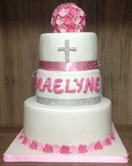 Wedding cake pour baptême