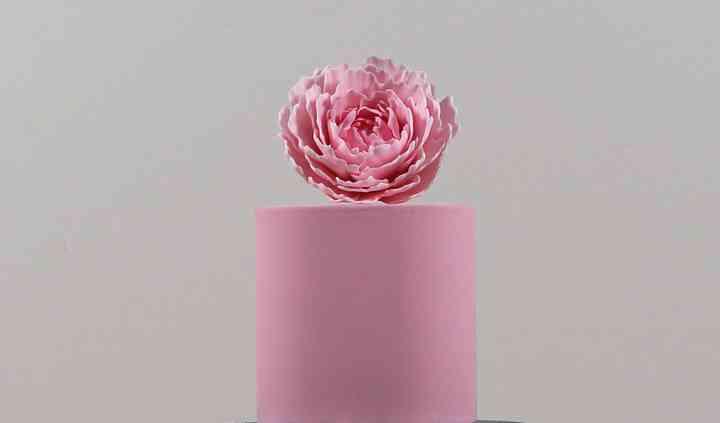 Wedding Cake Rose et Argent
