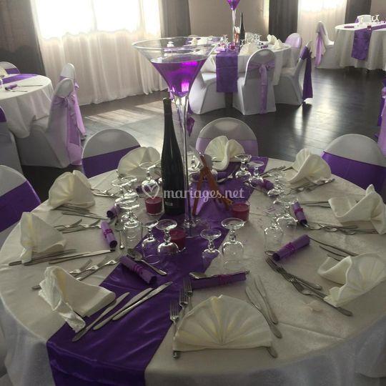 Deco de table violette