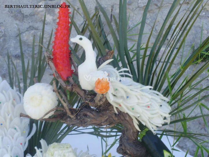 Sculpture sur Fruits et Légumes