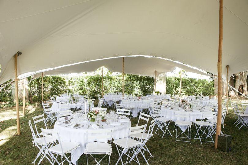 Tables pour un mariage