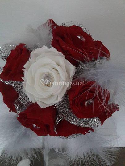 Bouquet de mariée à base de roses