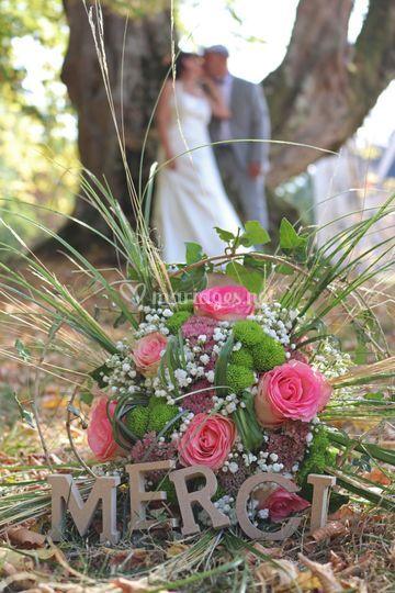 Bouquet et remerciements