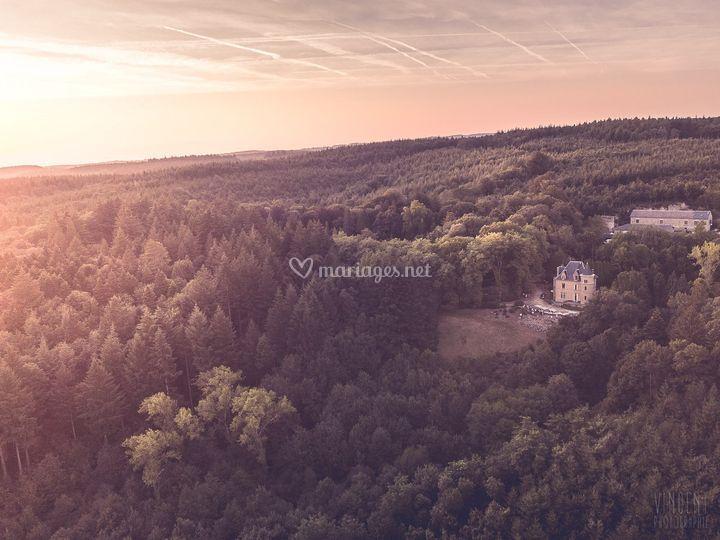 Photo drone du lieu