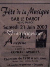 """Max Antoine """" événement"""