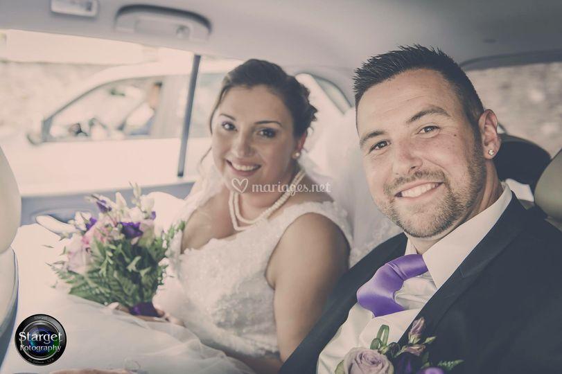 Arrivée de mariés