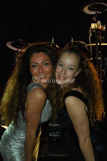 Cindy et Laura, danseuses