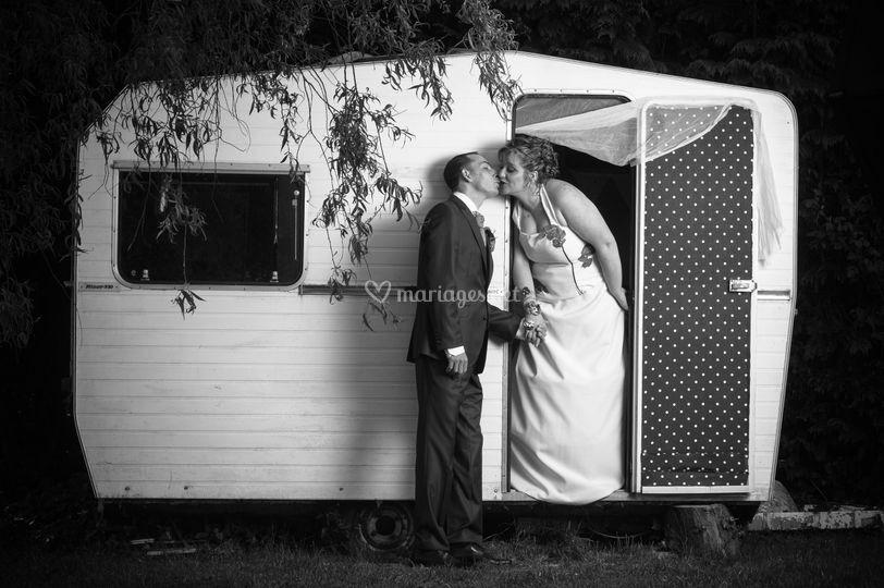 Photos de couple caravane