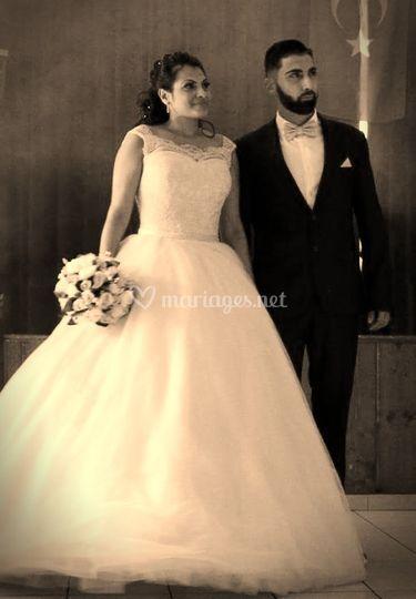 Pl'antrée des mariées