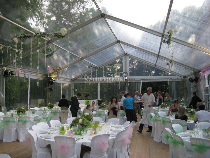 Structure 10m toile cristal