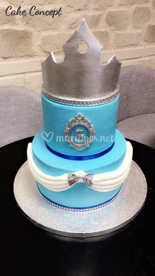 Birthday Cake Princesse bleu
