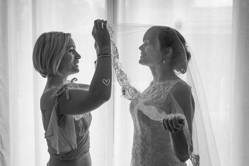La mariée et sa témoin