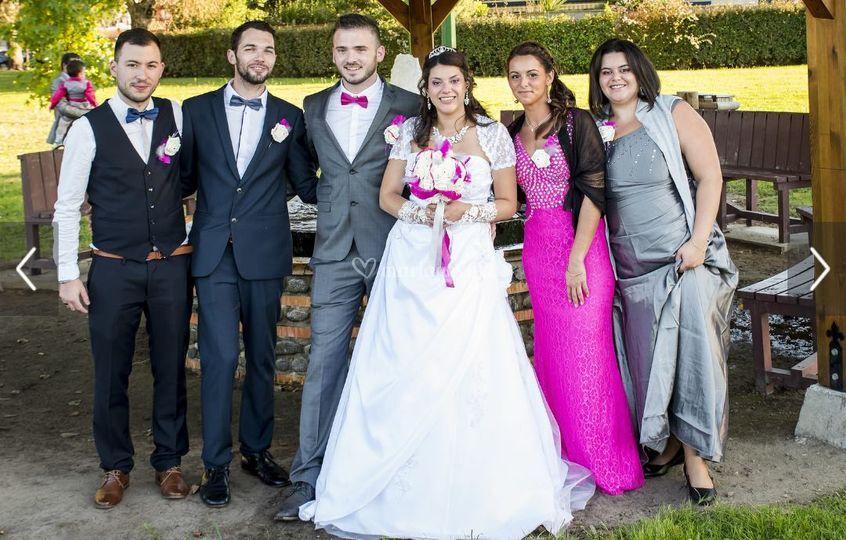 Mariage en fuschia