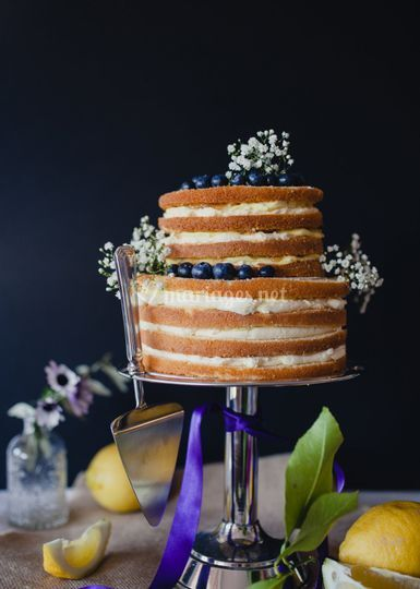 Naked cake citron myrtille