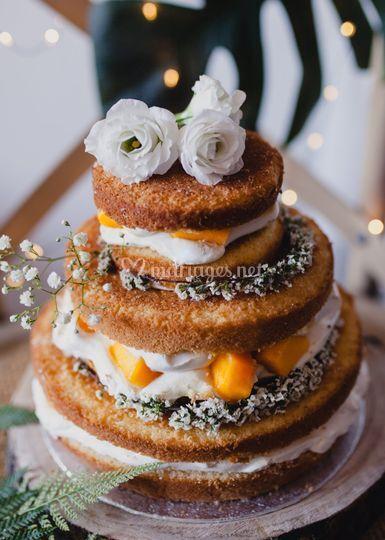 Naked cake exotique