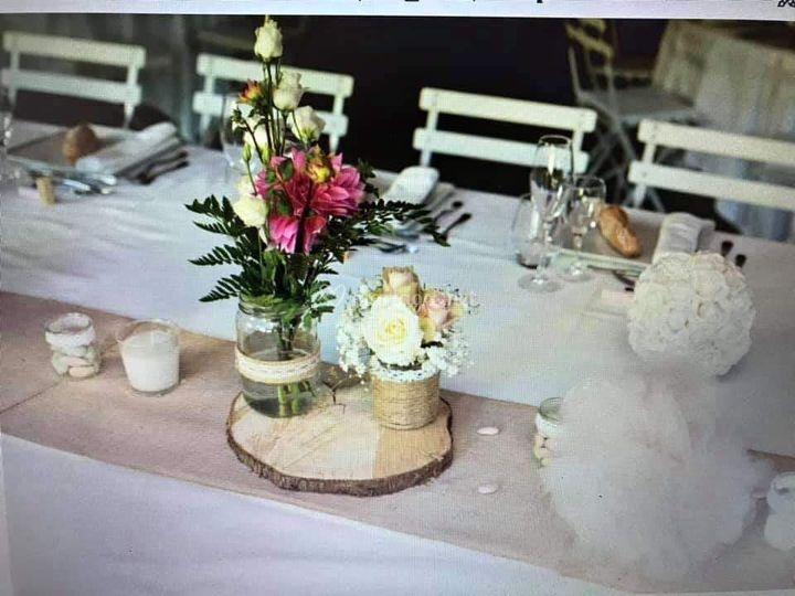 Centre de tables avec pots