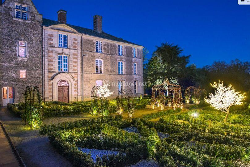 Jardin français de nuit