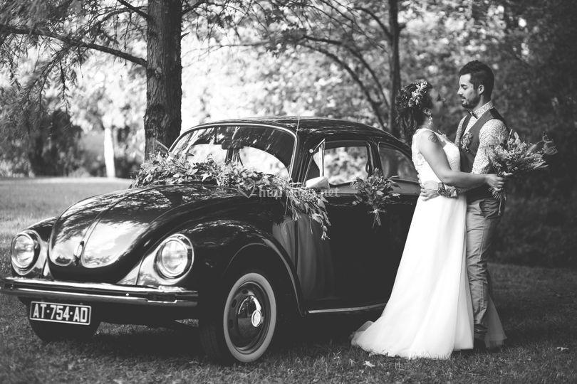 Photo mariage noir & Blanc