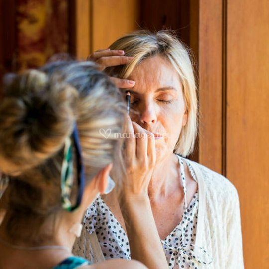 Maquillage maman de Laïs