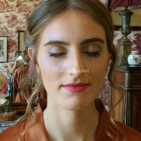 Maquillage mariée terminé